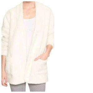 GAP Sherpa Fleece Cardigan Jacket Sweater, Medium